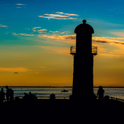 Lighthouse in Silhouette