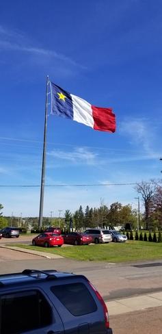 Largest Acadian flag Saint-Louis de Kent, NB
