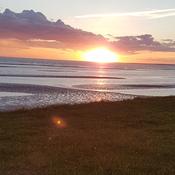 sunset at Noonan shore