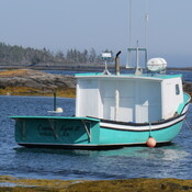 Lobster boats and pleasure boats.