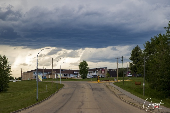 Slowly Blue sky is recovering but nothing bad yet.. Swan Hills, AB