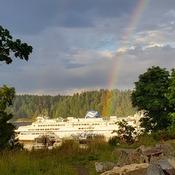 Rainbow at Departure Bay in Nanaimo