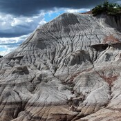 On the edge of the Alberta Badlands