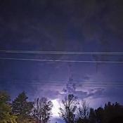 lightning from Lake Huron