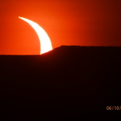 Sunrise - with an eclipse!!!