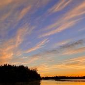 Daybreak cloud streaks
