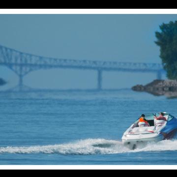 Pont Laviolette, prise de Champlain.
