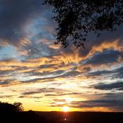 Hamilton sunset skies