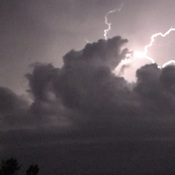 Still video capture of cloud to cloud lighting during fast thunderstorm cell