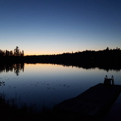 Sunset on Salter Lake