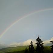 Rainbow over Owlhead Mountain