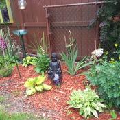 Calming garden area.