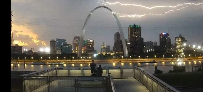 The Devils Lightning - Pitchfork lightning East St-Louis, IL