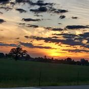 Sunset over Experimental Farm
