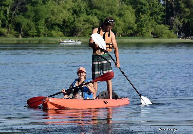 New style kayaking... Saint-Jean-sur-Richelieu, QC
