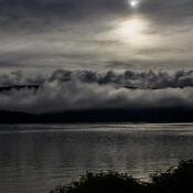 Misty morning sun rise Browns Bay