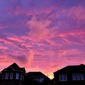 sunset on the doorstep