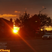 June 21 2021 8:50pm 18C First brilliant Summer sunset -Summer solstice Thornhill