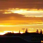 June 21 2021 8:57pm 18C First brilliant Summer sunset -Summer solstice Thornhill