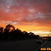 June 21 2021 9:06pm 18C First brilliant Summer sunset -Summer solstice Thornhill