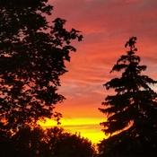 June 21 2021 9:12pm 18C First brilliant Summer sunset -Summer solstice Thornhill
