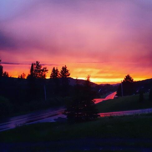 Beau paysage de fin soirée Saint-Basile, NB