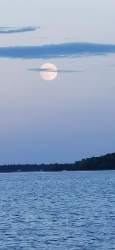 strawberry moon L'Isle-aux-Allumettes, QC