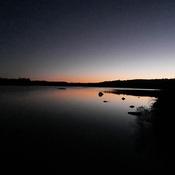 un lac de soir