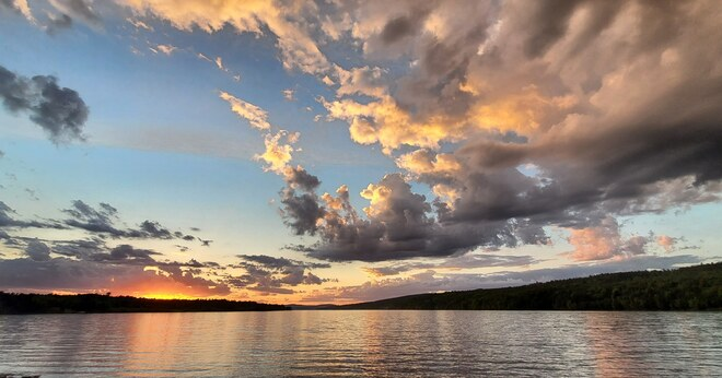 Sunset over the HeadPond Mactaquac Provincial Park, NB