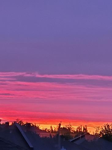 magnifique coucher de soleil Saint-Lin-Laurentides, QC