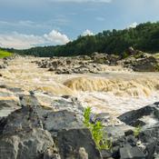 Rivière après une orage