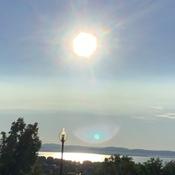 Couché du soleil à la pointe de Rivière-du-Loup début juillet 2021