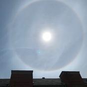 Halo de soleil ce matin vers 11h - Montréal