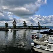 Ciel ennuagé au-dessus de la Marina d'Aylmer