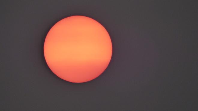 extraordinaire soleil rouge