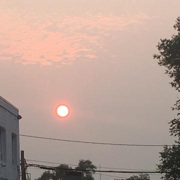 The most amazing red sun ever