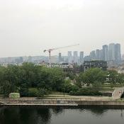 Smog sur Montréal dû à la fumée des feux de forêt de l'Ontario en autres...