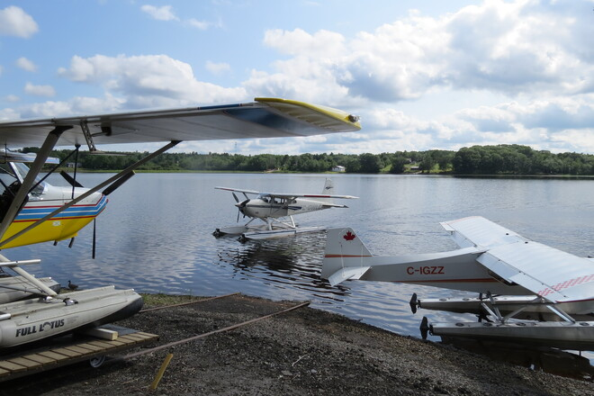 Planes in New Germany Lake. New Germany, NS
