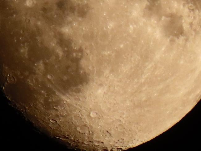 Bottom of moon Cambridge, Ontario, CA