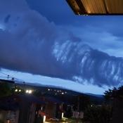 bizarre cloud pattern