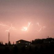 Lightning from last night