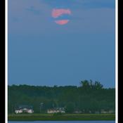 Trois-Rivières, pleine lune.