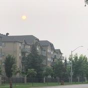 The sun in the haze