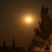 Saskatchewan Almost Full Moon
