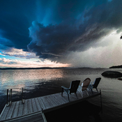Hier soir au abord du Lac Témiscamingue