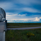 Big clouds by overpass