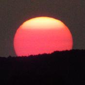 SUN SET at 9;45 pm