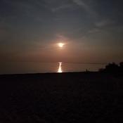 Buck Moon over Lake Erie