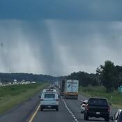 Pluie sur la route