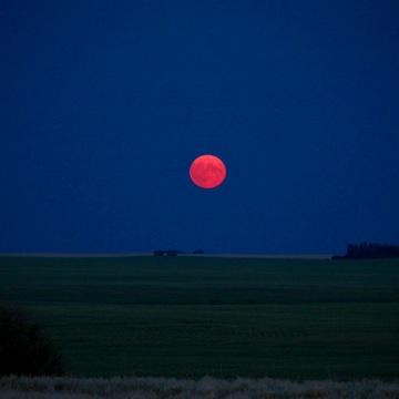 Saskatchewan Fire Moon